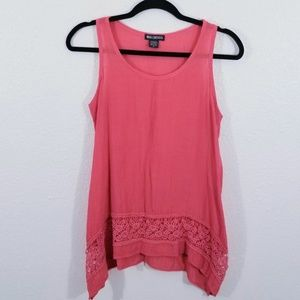 Miss Chievous Red Lace Tank Top Size S
